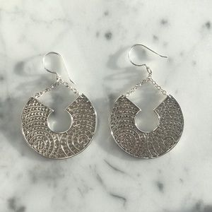 Anna Beck Sterling Silver Hammered Earrings